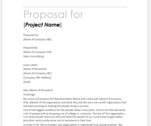 Fundraising Proposal Templates