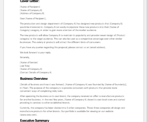 New Product Proposal Templates