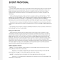 Event Organization Proposal Templates