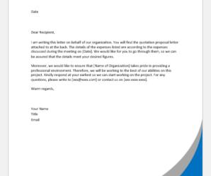 Quotation Proposal Letters