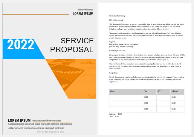 Service proposal template