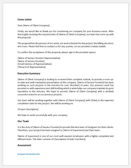 Designing proposal