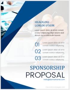 Sponsorship proposal document
