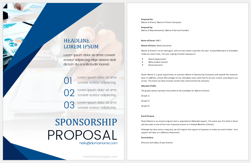 Sponsorship proposal document
