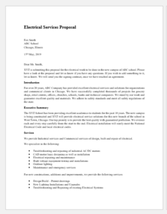 Electrical services proposal