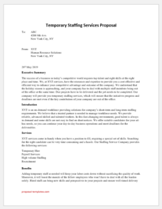 Temporary Staffing Services Proposal