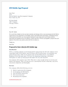 iOS Mobile App Proposal