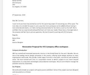 Renovation Proposal Template
