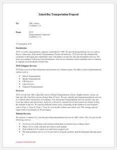 School Bus transportation Proposal