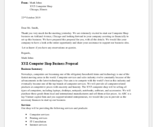 Computer Shop Business Proposal