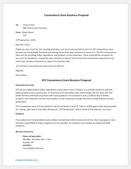 Convenience Store Business Proposal