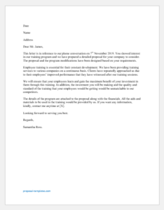 Employee Training Proposal Letter