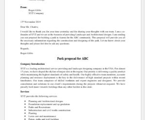 Park Proposal Template