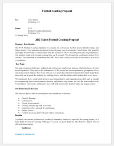 Football Coaching Proposal