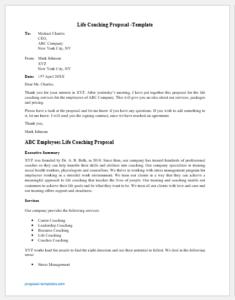 Life Coaching Proposal