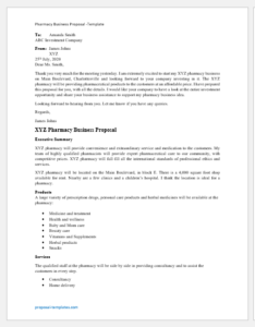 Pharmacy Business Proposal Template