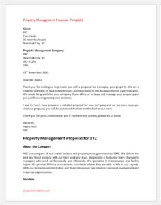 Property Management Proposal