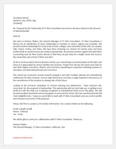Proposal Letter for School Partnership