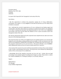 Sports Club Proposal Letter