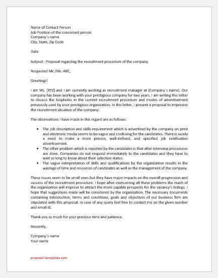 Recruitment Proposal Letter